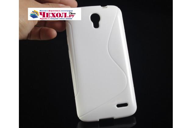 Фирменная ультра-тонкая полимерная из мягкого качественного силикона задняя панель-чехол-накладка для Alcatel POP 2 5042D/5042X белая