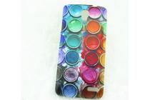 """Фирменная необычная из легчайшего и тончайшего пластика задняя панель-чехол-накладка для Alcatel POP 2 5042D/5042X """"тематика Краски"""""""
