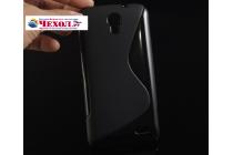 Фирменная ультра-тонкая полимерная из мягкого качественного силикона задняя панель-чехол-накладка для Alcatel POP 2 5042D/5042X черный