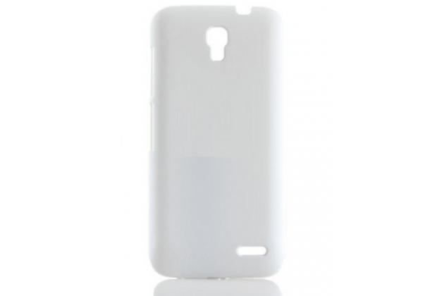 Фирменная задняя панель-крышка-накладка из тончайшего и прочного пластика для Alcatel POP 2 5042D/5042X белая