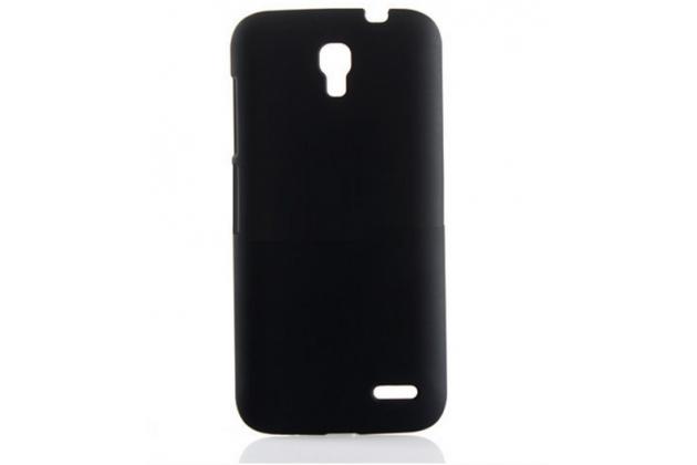 Фирменная задняя панель-крышка-накладка из тончайшего и прочного пластика для Alcatel POP 2 5042D/5042X черная