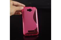 Фирменная ультра-тонкая полимерная из мягкого качественного силикона задняя панель-чехол-накладка для Alcatel POP C7 7041D розовая