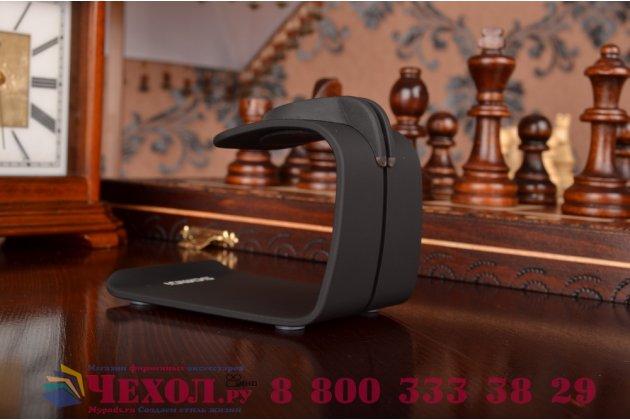 Фирменное зарядное устройство/док-станция/подставка для умных смарт-часов Apple Watch/ iPhone 6/ 6 Plus алюминиевая черная