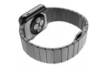 Фирменный сменный стальной ремешок для умных смарт-часов Apple Watch 42mm из нержавеющей стали черные с инструментами для вскрытия