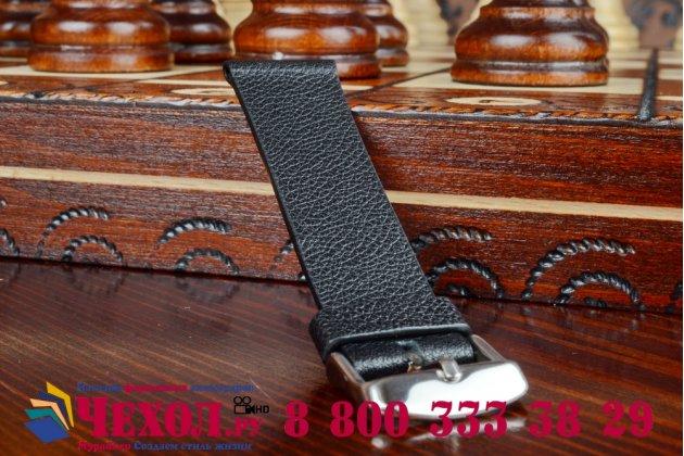 Фирменный сменный кожаный ремешок для умных смарт-часов Apple Watch 38mm из качественной импортной кожи + инструменты для вскрытия