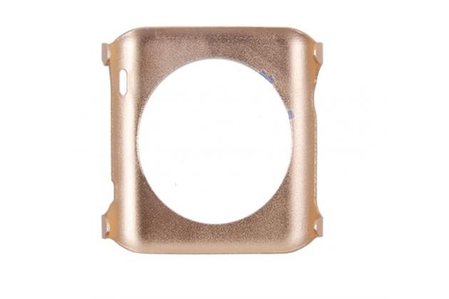 Фирменный ультра-тонкий из прочного алюминия чехол-кейс-пенал для умных смарт-часов Apple Watch 38mm золотой