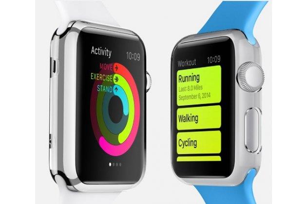 Фирменный ультра-тонкий пластиковый чехол-кейс-пенал для умных смарт-часов Apple Watch 42mm белого цвета