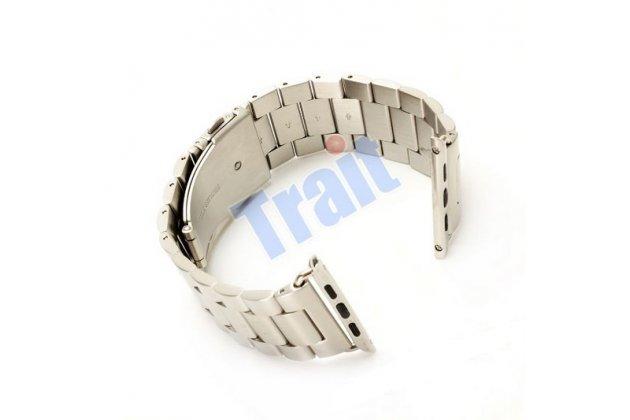 Фирменный сменный стальной ремешок для умных смарт-часов Apple Watch 42mm из нержавеющей стали с инструментами для вскрытия
