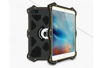 """Противоударный металлический чехол-бампер из цельного куска металла с усиленной защитой углов и необычным экстремальным дизайном  для Ipad Pro 12.9"""" серебряного цвета"""