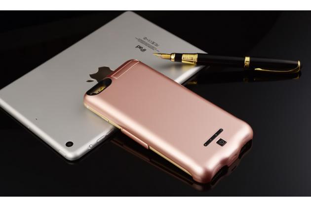 """Чехол-бампер со встроенной усиленной мощной батарей-аккумулятором большой повышенной расширенной ёмкости 10000mAh для Iphone 7 Plus 5.5""""/iPhone 8 Plus розовый + гарантия"""