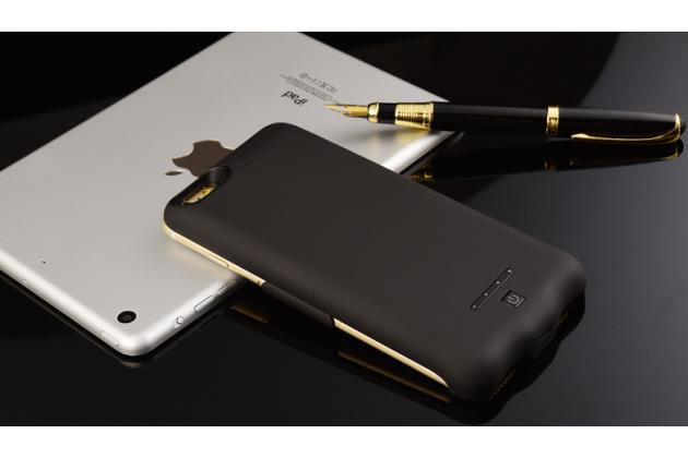 """Чехол-бампер со встроенной усиленной мощной батарей-аккумулятором большой повышенной расширенной ёмкости 10000mAh для Iphone 7 Plus 5.5""""/iPhone 8 Plus черный + гарантия"""