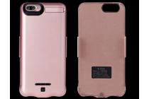 """Чехол со встроенной усиленной батарей-аккумулятором большой повышенной расширенной ёмкости 10000mAh для Iphone 7 Plus 5.5""""/iPhone 8 Plus розовый пластиковый + гарантия"""