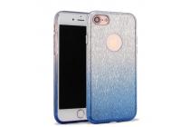 """Фирменная ультра-тонкая полимерная задняя панель-чехол-накладка из силикона для iPhone 7 plus 5.5"""" прозрачная с эффектом дождя"""