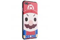 """Фирменная уникальная задняя панель-крышка-накладка из тончайшего силикона для iPhone 7 plus 5.5"""" /  iPhone 8 Plus с объёмным 3D рисунком """"тематика Марио"""""""
