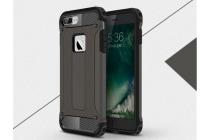 """Противоударный усиленный ударопрочный фирменный чехол-бампер-пенал для iPhone 7 plus 5.5"""" / iPhone 8 Plus черный"""