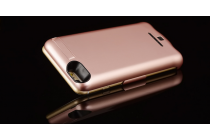 """Чехол со встроенной усиленной батарей-аккумулятором большой повышенной расширенной ёмкости 10000mAh для iPhone 7 4.7""""/ iPhone 8 розовый пластиковый + гарантия"""