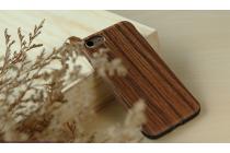 Фирменная из тончайшего прочного силикона задняя панель-крышка-накладка с рисунком под дерево для iPhone 7 4.7/ iPhone 8