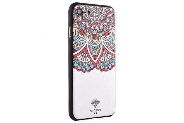 """Фирменная роскошная задняя панель-чехол-накладка с безумно красивым расписным рисунком на iPhone 7 4.7""""/ iPhone 8"""