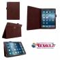 Фирменный чехол-обложка с подставкой для iPad Pro 12.9 коричневый кожаный..