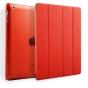 Чехол-обложка для iPad2/3/4 SLIM красный кожаный..