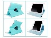 Фирменный чехол-обложка для iPad2/new iPad 3/iPad 4 роторный оборотный поворотный кожа голубой..