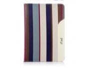 Чехол для iPad Mini 1/2/3 в полоску кожаный голубой..