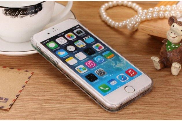 Фирменная роскошная элитная пластиковая задняя панель-накладка украшенная стразами кристалликами со втроенным АКВАРИУМОМ для iPhone 4/4S синяя