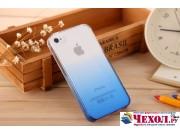 Фирменная из тонкого и лёгкого пластика задняя панель-чехол-накладка для iPhone 4/4S прозрачная с эффектом дож..