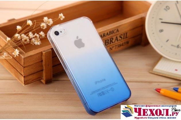 Фирменная из тонкого и лёгкого пластика задняя панель-чехол-накладка для iPhone 4/4S прозрачная с эффектом дождя