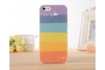 """Фирменная необычная из легчайшего и тончайшего пластика задняя панель-чехол-накладка для iPhone 4/4S """"тематика Все цвета Радуги"""""""