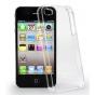Фирменная задняя панель-крышка-накладка из тончайшего и прочного пластика для iPhone 4/4S прозрачная..