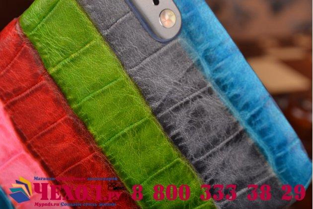 """Фирменная неповторимая экзотическая панель-крышка обтянутая кожей крокодила с фактурным тиснением для iPhone 6 4.7"""" тематика """"Тропический Коктейль"""". Только в нашем магазине. Количество ограничено."""