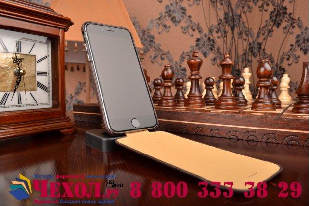"""Фирменный оригинальный вертикальный откидной чехол-флип для iPhone 6 4.7"""" коричневый из натуральной кожи"""