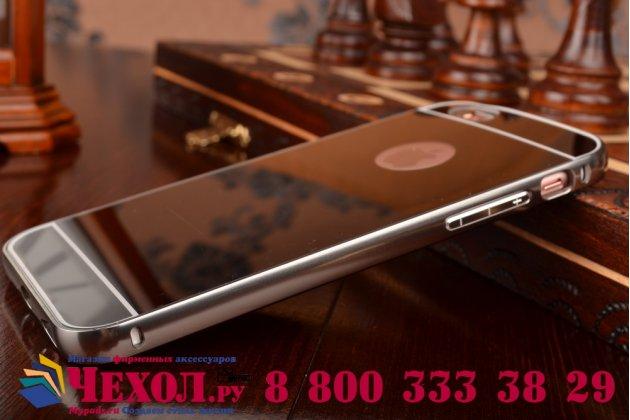 """Фирменная металлическая задняя панель-крышка-накладка из тончайшего облегченного авиационного алюминия для iPhone 6 4.7"""" черная"""