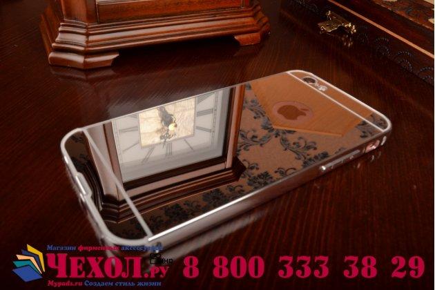 """Фирменная металлическая задняя панель-крышка-накладка из тончайшего облегченного авиационного алюминия для iPhone 6 4.7"""" серебристая"""
