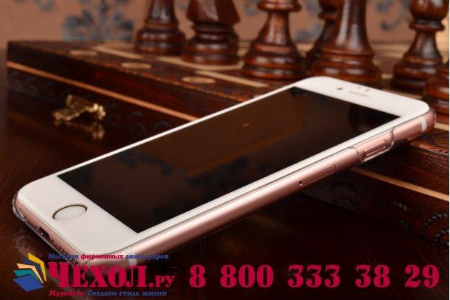 """Фирменная ультра-тонкая из мягкого качественного пластика задняя панель-чехол-накладка для iPhone 6 4.7"""" прозрачная"""