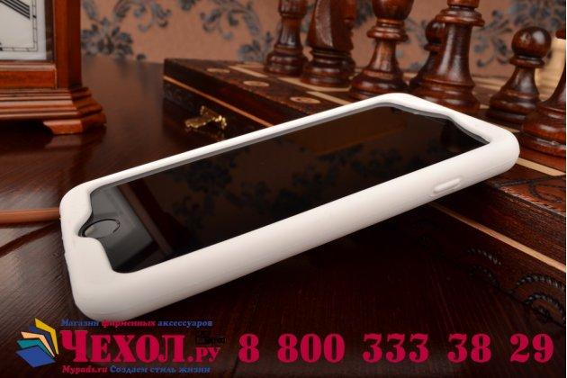 """Фирменная необычная уникальная полимерная мягкая задняя панель-чехол-накладка для iPhone 6 4.7"""" """"тематика Андроид в Белом Шоколаде"""""""