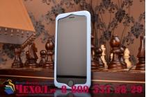"""Фирменная необычная уникальная полимерная мягкая задняя панель-чехол-накладка для iPhone 6 4.7"""" """"тематика Андроид в черничном  Шоколаде"""""""
