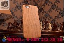 """Фирменная оригинальная деревянная из натурального бамбука задняя панель-крышка-накладка для iPhone 6 4.7"""""""
