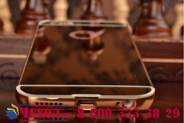 """Фирменная металлическая задняя панель-крышка-накладка из тончайшего облегченного авиационного алюминия для iPhone 6 4.7"""" золотая"""