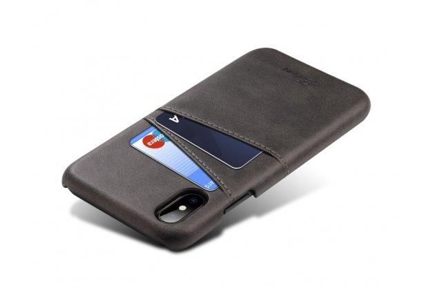 Фирменная роскошная элитная премиальная задняя панель-крышка для iPhone 6S из качественной кожи буйвола черный