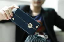 Фирменная роскошная элитная премиальная задняя панель-крышка для iPhone 6S из качественной кожи буйвола синий