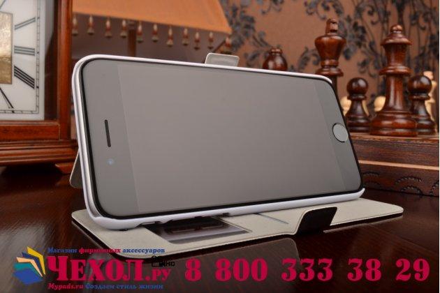 Фирменный чехол-книжка с безумно красивым расписным рисунком Не трогай мой чехол на iPhone 6S с окошком для звонков