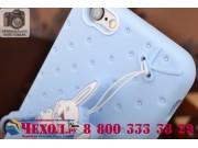 Фирменная необычная уникальная полимерная мягкая задняя панель-чехол-накладка для iPhone 6S