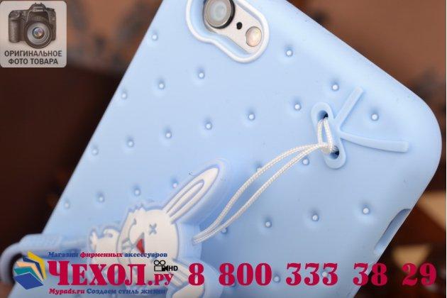 """Фирменная необычная уникальная полимерная мягкая задняя панель-чехол-накладка для iPhone 6S """"тематика Андроид в черничном  Шоколаде"""""""