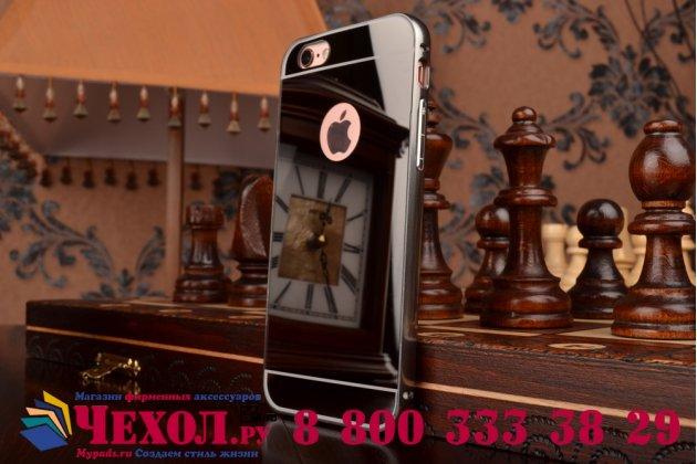 Фирменная металлическая задняя панель-крышка-накладка из тончайшего облегченного авиационного алюминия для iPhone 6S черная