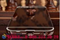 Фирменная металлическая задняя панель-крышка-накладка из тончайшего облегченного авиационного алюминия для iPhone 6S серебристая