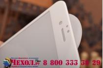 Фирменное 3D защитное стекло которое полностью закрывает экран / дисплей по краям с олеофобным покрытием для iPhone 6S белого цвета