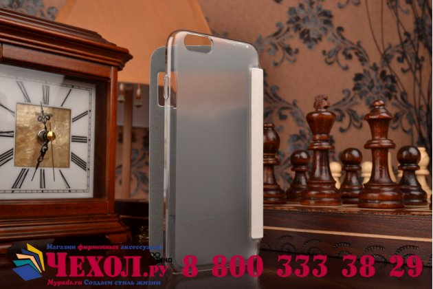 Ультра-тонкий чехол с объемным металлическим изображением орла из импортной кожи для iPhone 6S белый