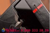 Ультра-тонкий чехол с объемным металлическим изображением орла из импортной кожи для iPhone 6S черный